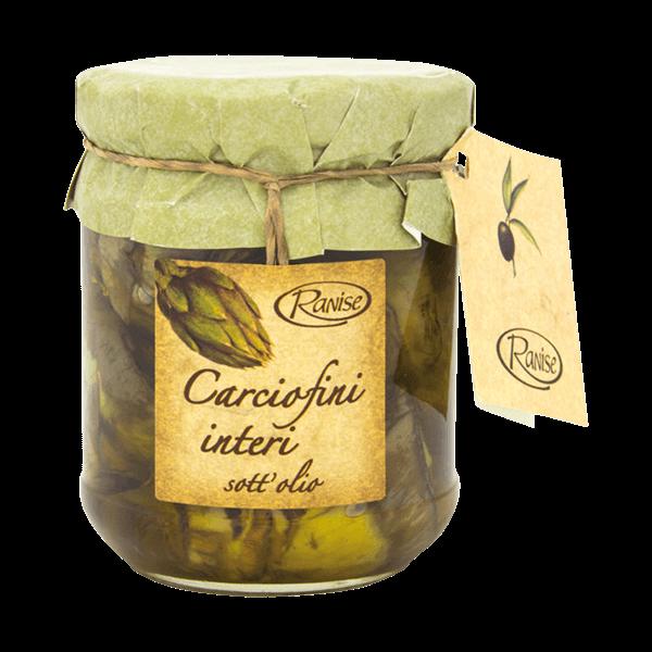Carciofini interi Artischocken in Olivenöl von Ranise