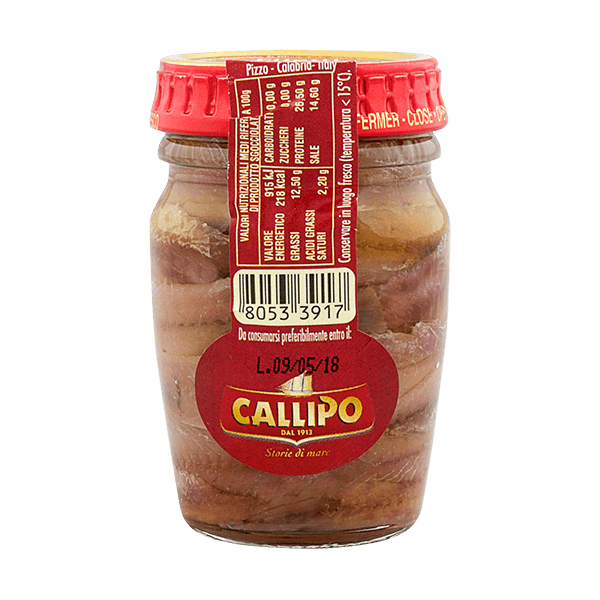 Sardellenfilets in Olivenöl von Callipo