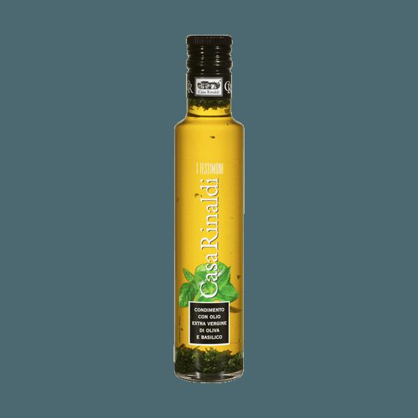 Natives Olivenöl extra mit Basilikum, Casa Rinaldi