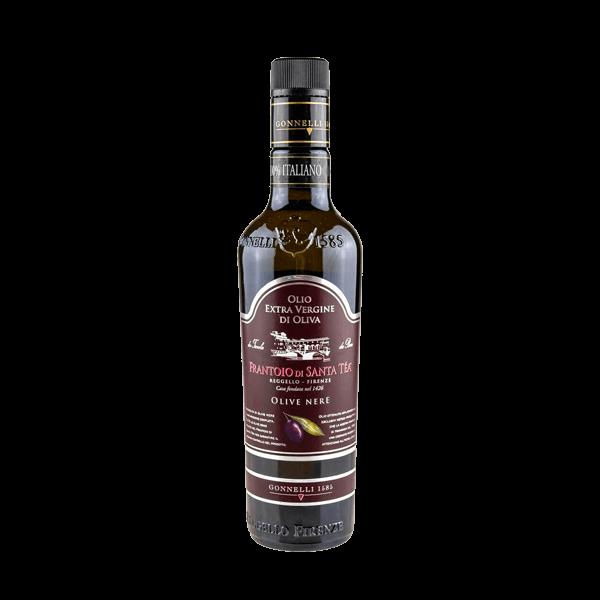 Das Olivenöl Extra Vergine Raccolta di Olive Nere von der Institution Gonnelli 1585.