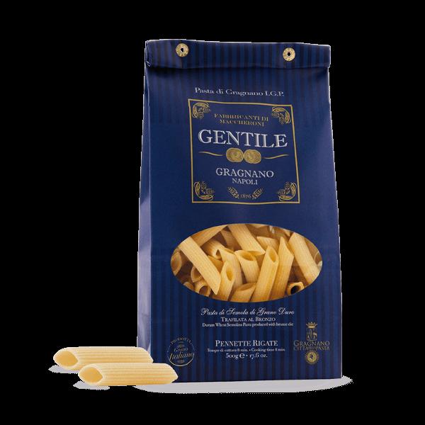 Die Pennette Rigate von Gentile sind das sehr gute Original aus Gragnano.